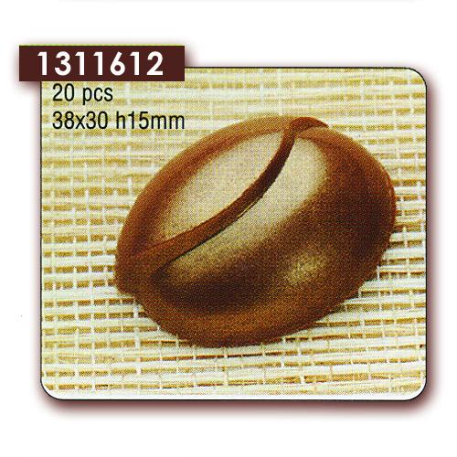 Polycarbonaat Bonbon Chocoladevorm Ovaal Golvend
