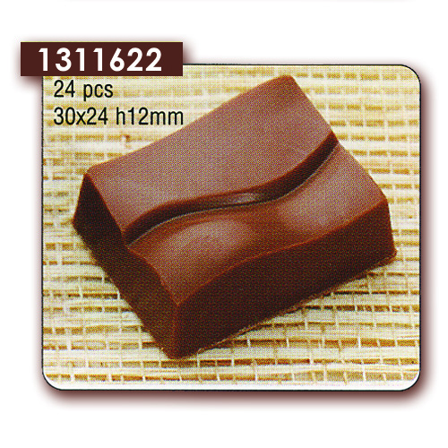 Polycarbonaat Bonbon Chocoladevorm Rechthoek Envelop
