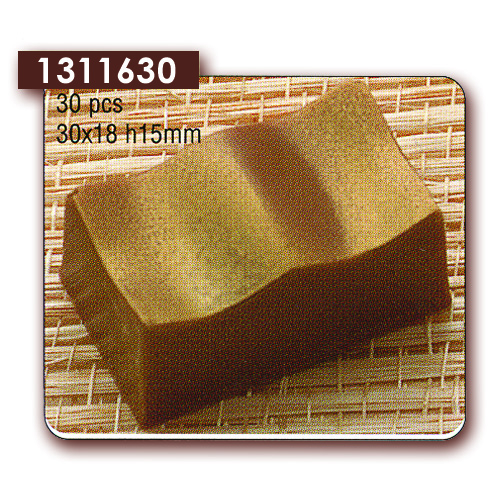 Polycarbonaat Bonbon Chocoladevorm Rechthoek Golvend