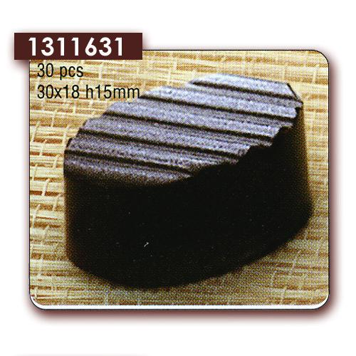 Polycarbonaat Bonbon Chocoladevorm Ovaal met diagonaal reliëf