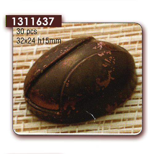 Polycarbonaat Bonbon Chocoladevorm Ovaal