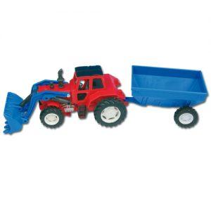 item # 1346 - Plastic Tractor met wagen