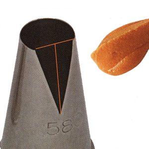 item #: 202312 - Ø12 - h.41 mm. - Bloem Blaadjes Spuit (Naadloos