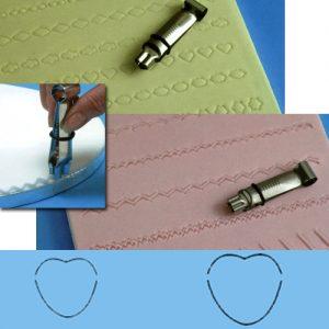 item 84343 - Set van 2 Crimpers Hart - 12,6 mm en 18,9 mm