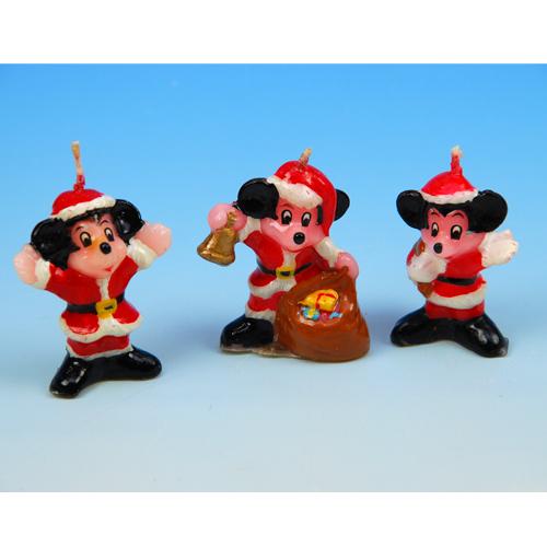 item # 1996 - Kerstman mickey Kaarsjes