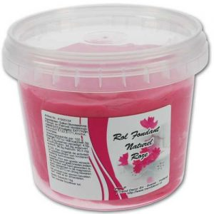 1 kilo grams Pot - Rol Fondant Naturel - Roze