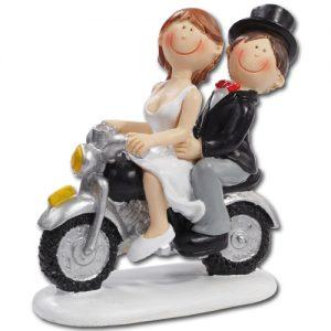 Medium Bruidspaar op Motor
