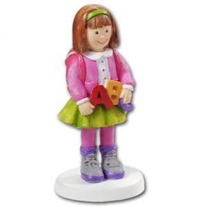 item # 3870134 - School Meisje - ca. 8,5 cm - pol.