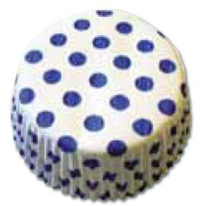item # 501283 - CupCake vormen - Wit met Blauwe Stippen