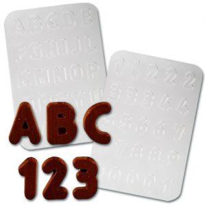 item # 611002 - Plastic Mallen voor complete ABC & getallen
