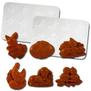 item # 611015 - Plastic Mallen voor 6 Paas Figuren