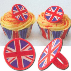 Item # 2012 - DecoRings: Engelse Vlag Ringen - 144 Stuks per zak
