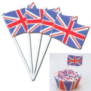 Item # 2366 - Engelse Vlaggetjes Prikkers - 144 Stuks