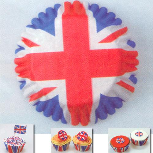 item # 502237 - CupCake vormen - Engelse Vlag