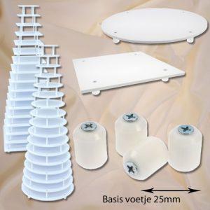 item #582525 - POM Kunststof basis voetje Lengte van 25mm - 1 st