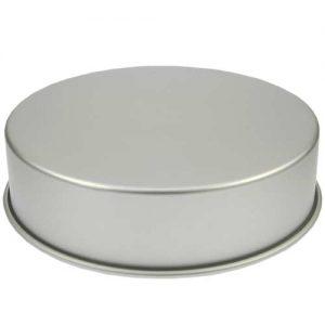 Bakvorm Rond - Ø 12 inch x h 3 inch - Geanodiseerd Aluminium -0