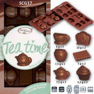"Siliconen Chocoladevorm ""Tea Time"""