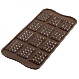 "Siliconen Chocoladevorm ""Tablette"""