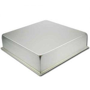 Bakvorm Vierkant - 16x16 inch x h 4 inch - Geanodiseerd Aluminium -0