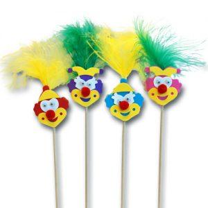 Clown met Veer op prikker - 50 stuks per doos