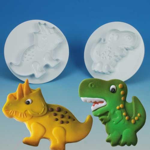 """Steker-Uitdrukker Set """"Dinosaurus"""" - 2 delig - 1 set op blister-0"""