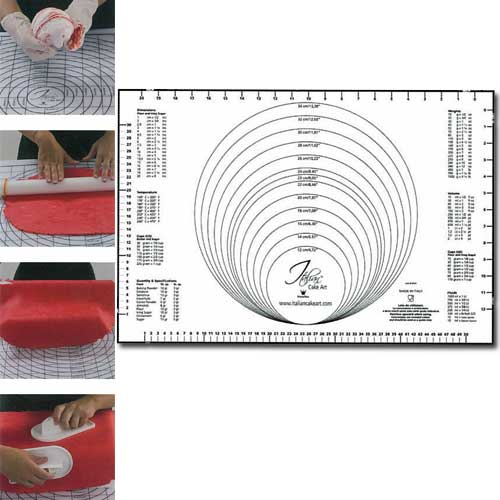 Plastic Uitrolmat met Maatvoering - 60x40cm-0