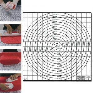 Plastic Uitrolmat met Maatvoering - 60x58 cm