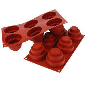 """Siliconflex Bakvorm """"Mini Taartje"""" - 59 x 29mm x h 7mm - 1 stuks-0"""