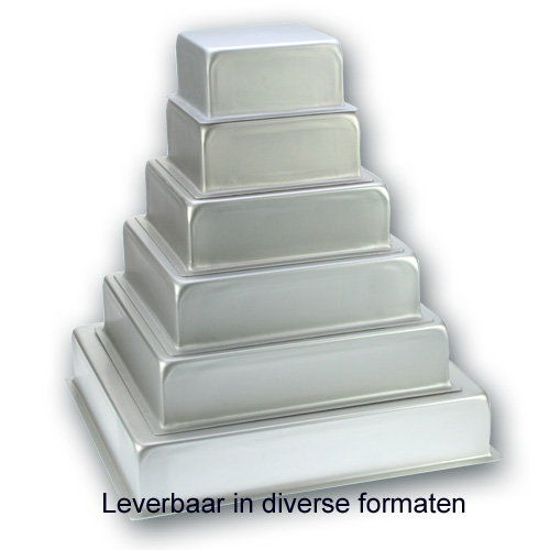 Bakvorm Vierkant – Geanodiseerd Aluminium – 4 inch hoog