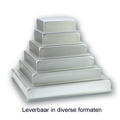 Bakvorm Vierkant – Geanodiseerd Aluminium – 3 inch hoog