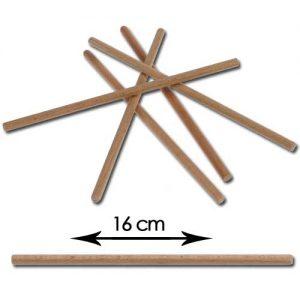 Ronde Houten (ijs) Lolly Stokjes - 15 cm
