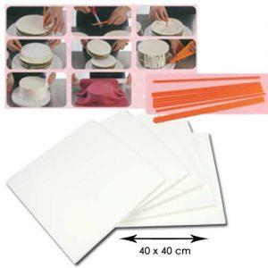 Vierkante Cake Disks - 40 x 40cm cm - per stuk-0