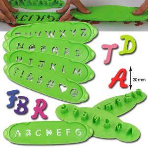 """Steker-Uitdrukker Set """"Alfabet"""" klein Letters A-Z - 5 delig - 1 set in blister -0"""