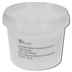 Kleurstofpoeder Wit E171