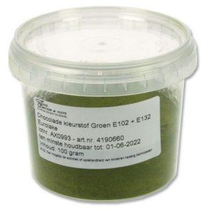 Chocolade kleurstof Groen - 100 gram-0