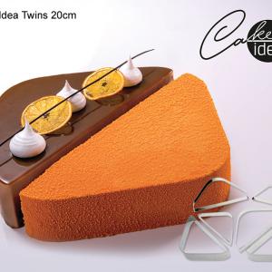 """CakeIdea Inox Gebaksringen """"Twins"""" 20cm-0"""