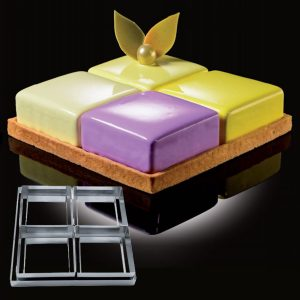 CakeIdea Inox Gebaksringen - 4 Taste - 22cm