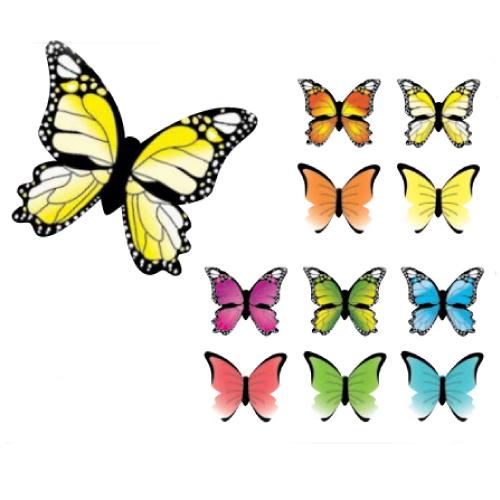 Ouwel Vlinders assortiment - 180 st/ds