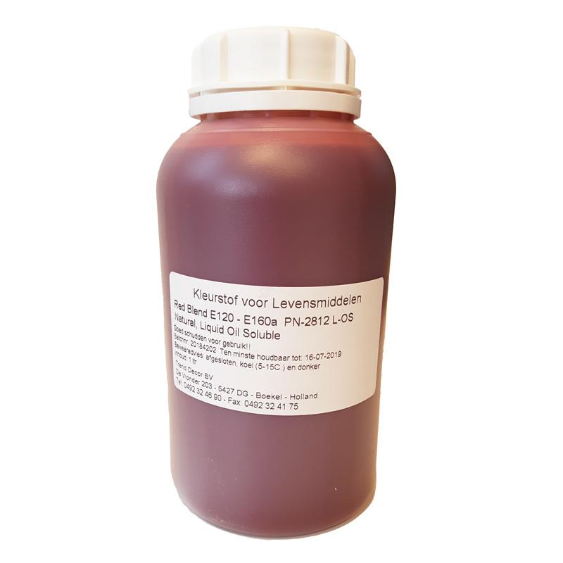 Kleurstof Rood - Red Blend op olie - 1 liter
