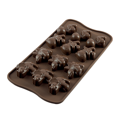 "Siliconen Chocoladevorm ""Dino"""