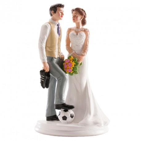 Bruidspaar met Voetbal