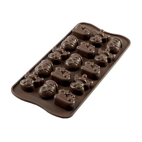 Siliconen Chocoladevorm - Choco Winter