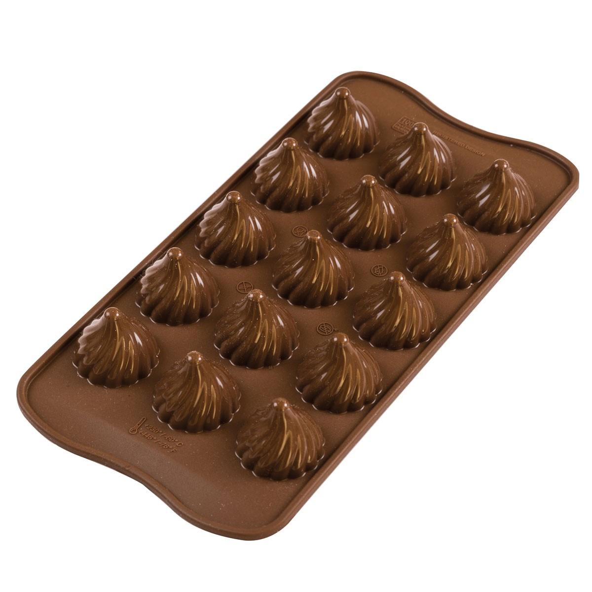 Siliconen Chocoladevorm - Choco Flame 3D