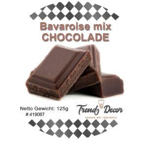 Mix voor bavaroise - Chocolade